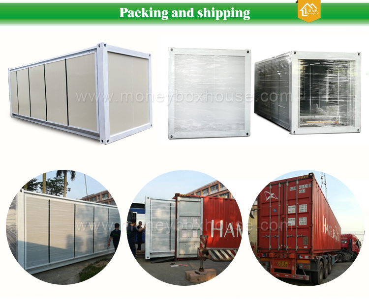 packing and shipping of expandable container house